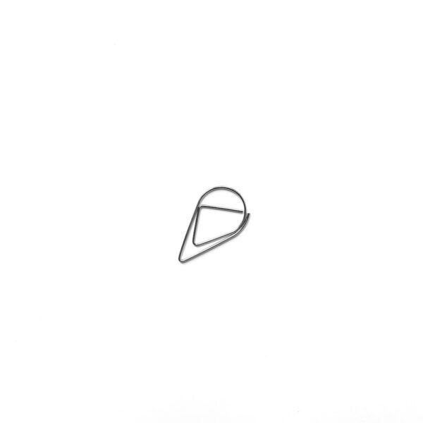 Скріпка-крапелька, велика, срібний, 5 шт