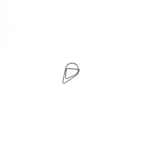 Скріпка-крапелька, маленька, срібна, 5 шт