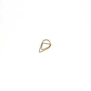 Скріпка-крапелька, маленька, золота, 5 шт