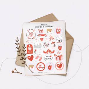 Стікери Vanilka Stickers, More love (плівка)