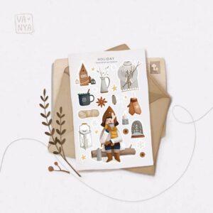 Стікери Vanilka Stickers, Holiday (папір)
