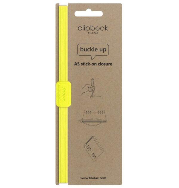 Еластична застібка до Clipbook A5, Saffiano Fluoro Yellow