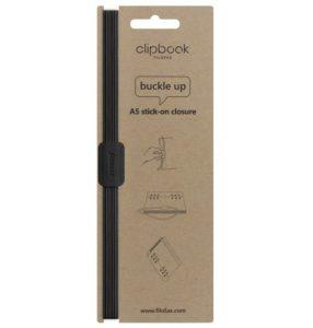 Еластична застібка до Clipbook A5, Saffiano Black