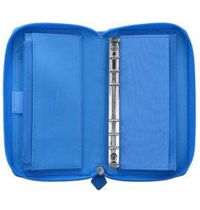 Органайзер Filofax Saffiano Compact zip, Fluoro Blue