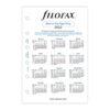 Бланки тиждень на розвороті Filofax, А5, білі, 2022