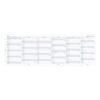Бланки огляд року вертикальний Filofax, Personal, білі, 2022