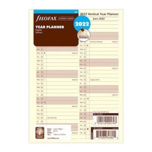 Бланки огляд року вертикальний Filofax, А5, cotton cream, 2022
