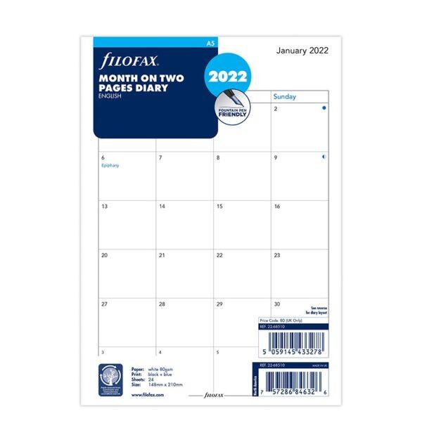 Бланки огляд року вертикальний Filofax, А5, cotton cream, 2021
