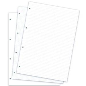Бланки асорті в клітинку, лінію, без лініювання (Clipbook), A4, білі