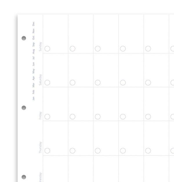 Бланки огляд місяця недатовані (Clipbook), A4, білі