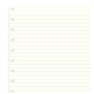Бланки в лінію для блокноту Filofax, A4, білі