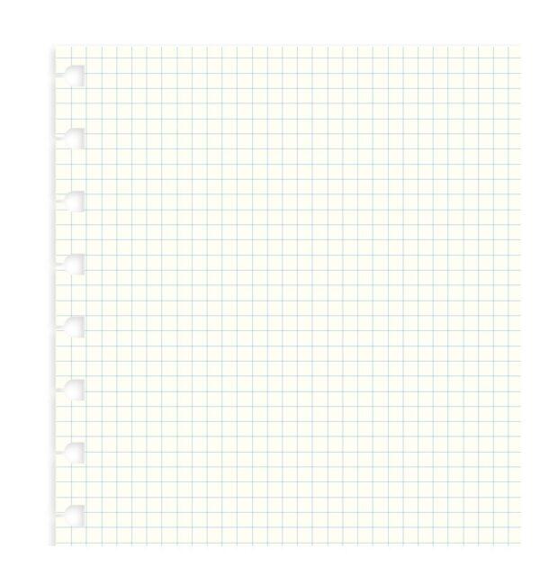 Бланки в клітинку для блокноту Filofax, A4, білі