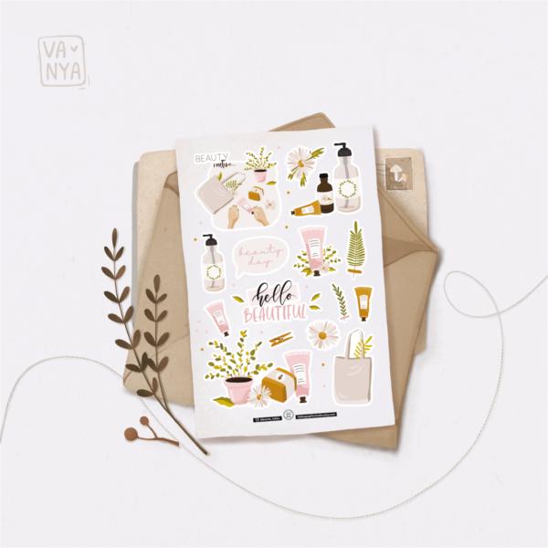 Стікери Vanilka Stickers, Beauty (папір)
