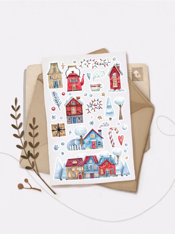 Стікери Vanilka Stickers, Winter in the city 2 (папір)