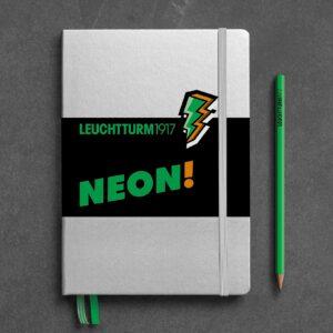Блокнот Leuchtturm1917 NEON! середній, жовтий, крапка