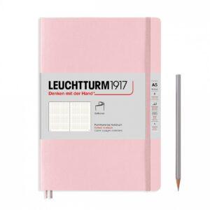 Блокнот Leuchtturm1917 Muted Colours середній, м'яка обкладинка, Powder, крапка