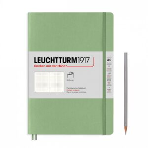 Блокнот Leuchtturm1917 Muted Colours середній, м'яка обкладинка, Sage, крапка