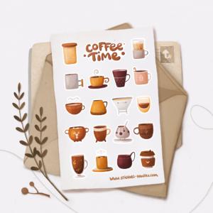 Стікери Vanilka Stickers, Coffe time (папір)