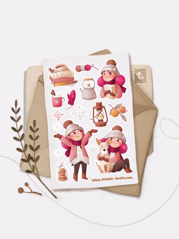 Стікери Vanilka Stickers, Ванілька в шоколаді (папір)