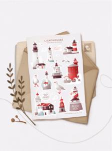 Стікери Vanilka Stickers, Lighthouses (папір)