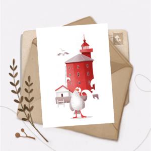 Листівка Vanilka Stickers, Чайка