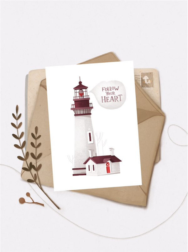 Листівка Vanilka Stickers, Follow your heart