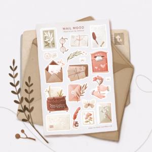 Стікери Vanilka Stickers, Mail mood (папір)