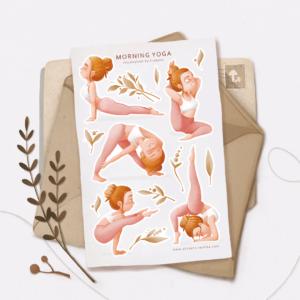 Стікери Vanilka Stickers, Morning yoga (папір)