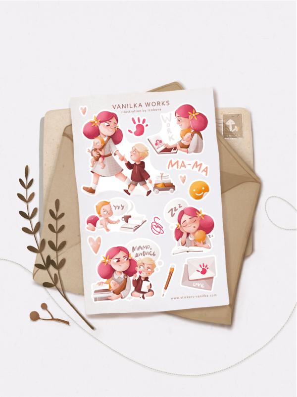 Стікери Vanilka Stickers, Vanilka works (папір)
