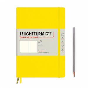 Блокнот Leuchtturm1917 середній, чисті аркуші, м'яка обкладинка, лимонний