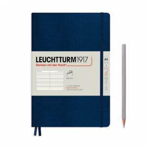 Блокнот Leuchtturm1917 середній, крапка, м'яка обкладинка, темно-синій