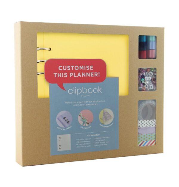 Органайзер з набором для кастомізації Filofax CLIPBOOK A5 Classic Brights Fuchsia