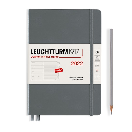 Щотижневик з нотатками Leuchtturm1917, Medium (А5), Срібний, 2022