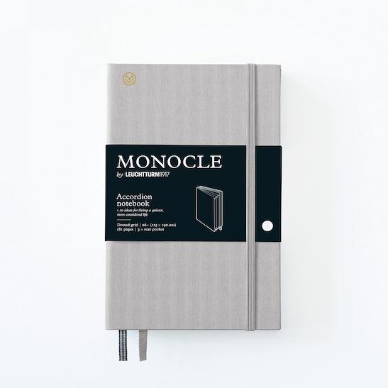 Блокнот-гаманець MONOCLE, Leuchtturm1917, В6+, Light Grey, крапка