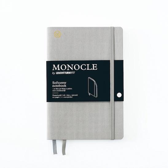 Блокнот MONOCLE, Leuchtturm1917, В6+, м'яка обкладинка, Light Grey, крапка