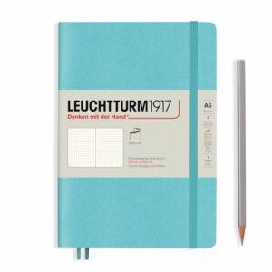 Блокнот Leuchtturm1917 Rising Colours середній, м'яка обкладинка, Aquamarine, крапка