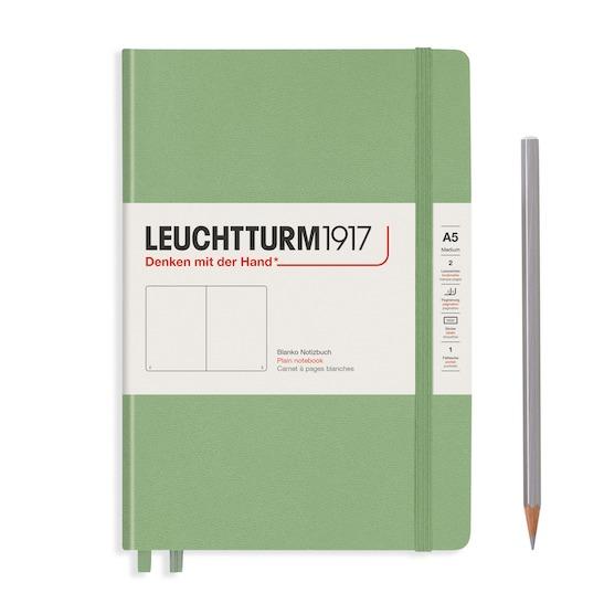 Блокнот Leuchtturm1917 Muted Colours середній, Sage, клітинка