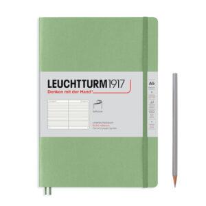Блокнот Leuchtturm1917 Muted Colours середній, м'яка обкладинка, Powder, лінія