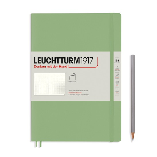 Блокнот Leuchtturm1917 Composition (B5), Muted Colours, Powder, лінія