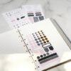 Стікери для нотаток для органайзеру та блокноту Filofax, Personal-A5, Indigo
