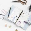 Стікери для планування для органайзеру та блокноту Filofax, Personal-A5, Indigo