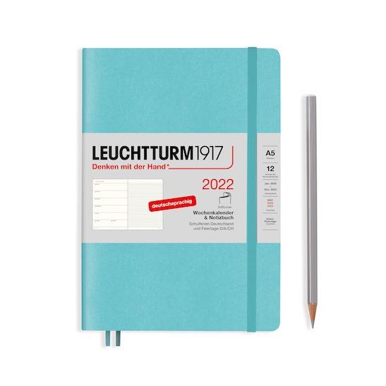 Щотижневик з нотатками Leuchtturm1917, М'яка обкладинка (А5), Темно-синій, 2022