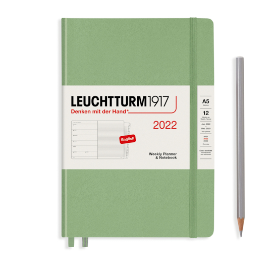 Щотижневик в колонках Leuchtturm1917, Master (A4+), Чорний, 2022