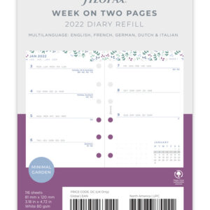 (Копія)Бланки тиждень на розвороті Confetti, Filofax, Pocket, 2022